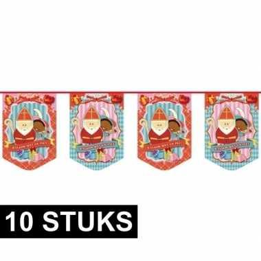 10 sinterklaas vlaggenlijnen 10 meter