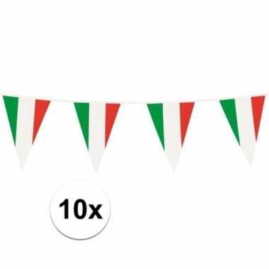 10x italiaanse plastic vlaggenlijn 10 meter