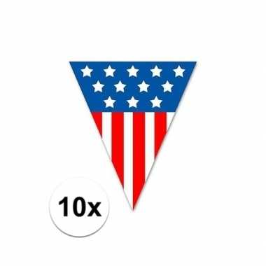 10x vlaggenlijn amerika 5 meter