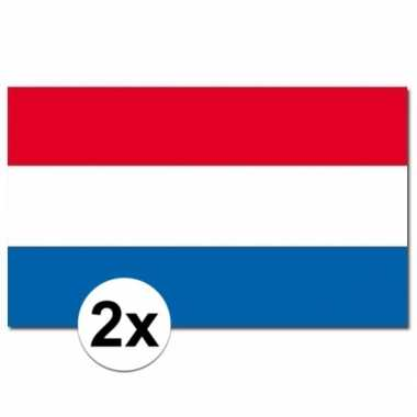 2 stuks vlaggen nederland