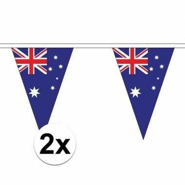 2x australie versiering vlaggenlijn 5 m