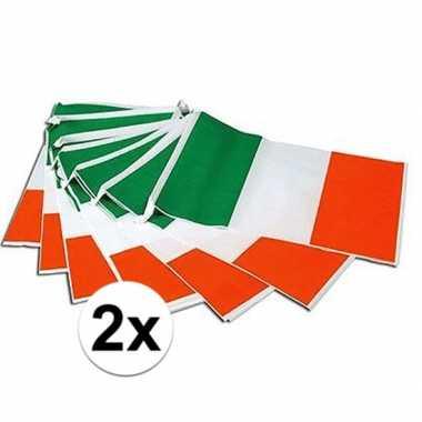 2x ierland versiering vlaggenlijnen 7m