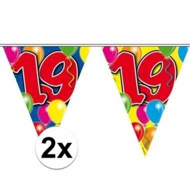 2x leeftijd slinger 19 jaar 10 meter
