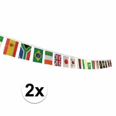 2x multi nationale vlaggenlijn