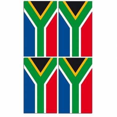 2x papieren vlaggenlijnen zuid-afrika