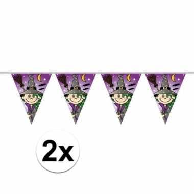 2x stuks heks vlaggenlijnen 6 meter