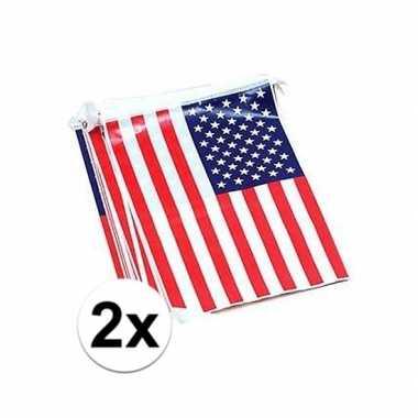 2x usa vlaggenlijnen 7 meter