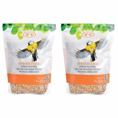 2x zakken vogelvoer voedermix 1kg