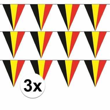 3x belgie vlaggenlijn / slinger 5 meter