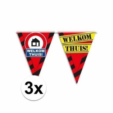 3x decoratie slinger verkeersbord jaar 10m