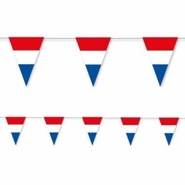 3x holland rood wit blauw vlaggenlijn papier 3,5 meter