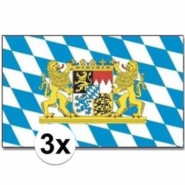 3x landenvlaggen bayern/bijeren