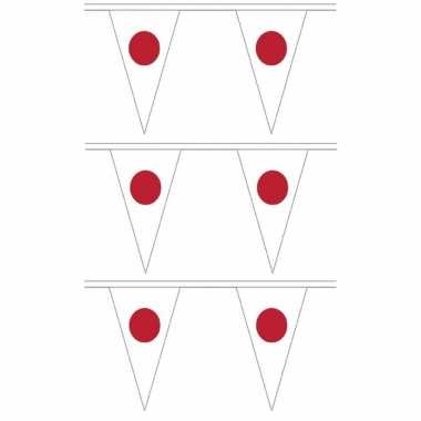 3x stuks japan landen punt vlaggetjes 5 meter