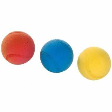 3x tennis/soft/foam balletjes buitenspeelgoed