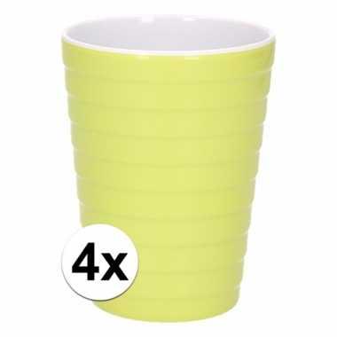 4 onbreekbare drinkbekers groen 300 ml