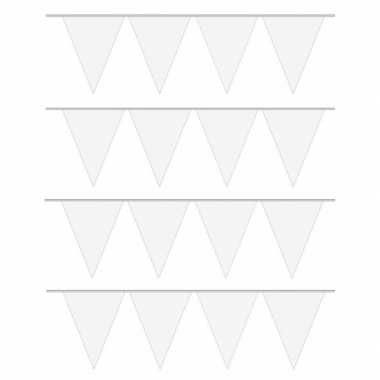 4x 10 meter lange witte vlaggenlijn