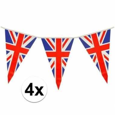 4x driehoeks vlaggenlijn groot-brittannie 7mt