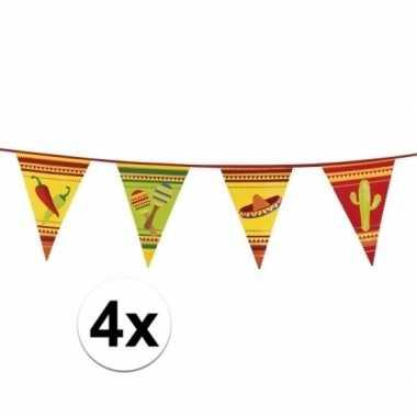 4x mexico slingers met vlaggetjes