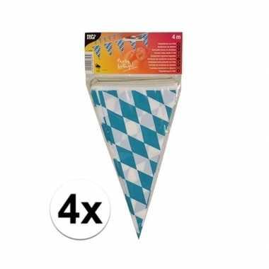 4x stuks buiten vlaggetjes bayern oktoberfest
