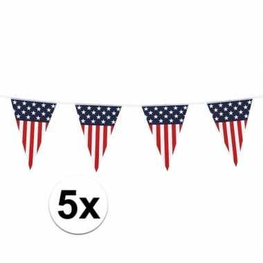 5 stuks vlaggetjes vs 6 meter