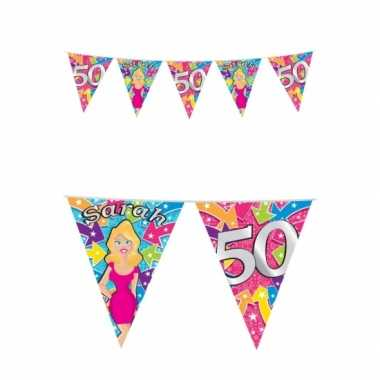 50 jaar feest sarah buiten vlaggetjes