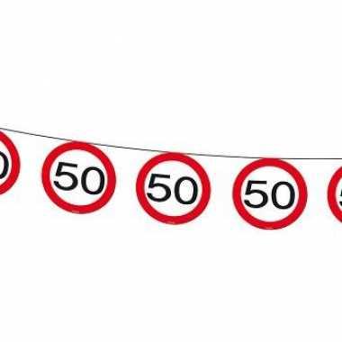 50 jaar slingers verkeersborden