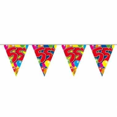 55e verjaardag slingers / vlaggenlijnen 10m