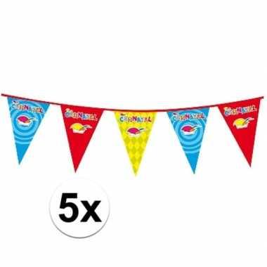 5x carnaval versiering slinger