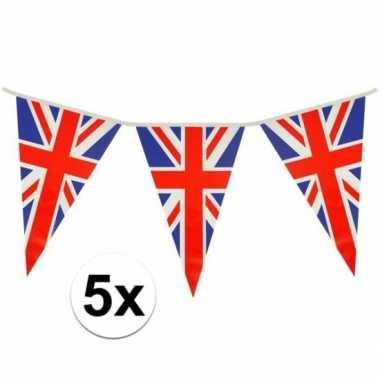 5x driehoeks vlaggenlijn groot-brittannie 7mt