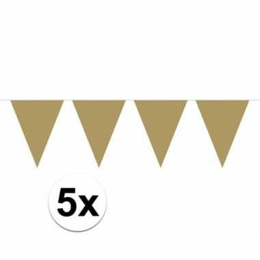 5x gouden vlaggenlijnen 10 meter