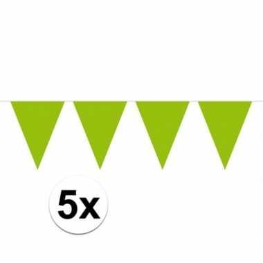 5x groene vlaggenlijnen 10 meter