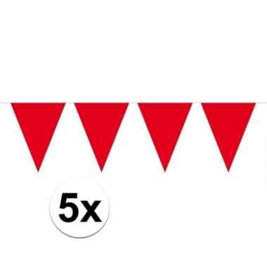 5x rode vlaggenlijnen 10 meter