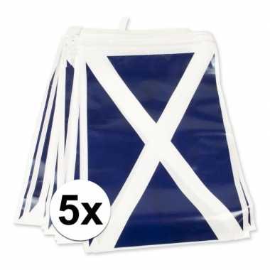 5x schotse versiering vlaggenlijn