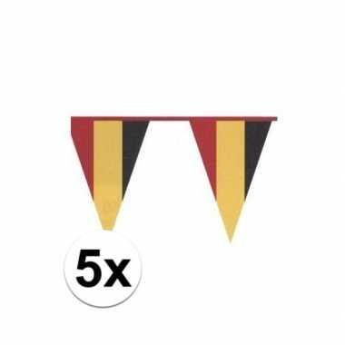 5x vlaggenlijn in belgische kleuren
