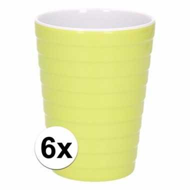 6 onbreekbare drinkbekers groen 300 ml