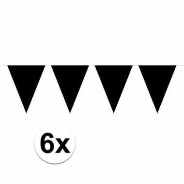 6x groot formaat zwarte slingers