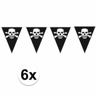 6x stuks piraten slingers