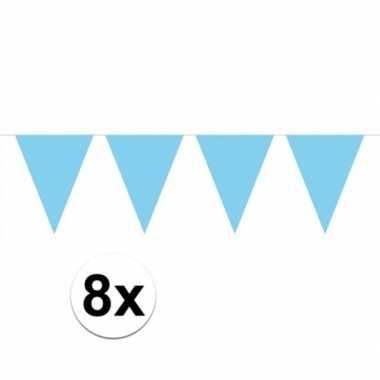8 stuks groot formaat lichtblauwe slingers