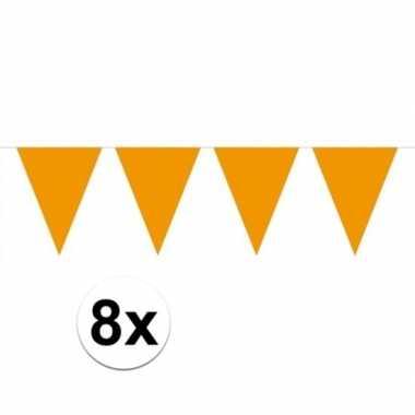 8 stuks groot formaat oranje slingers