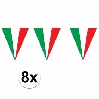 8 stuks italiaanse vlaggenlijnen 5 meter