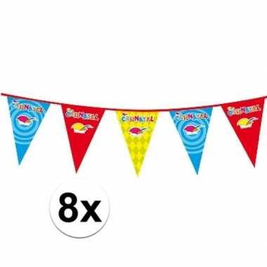 8x carnaval versiering slinger