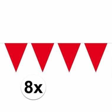 8x rode vlaggenlijnen 10 meter