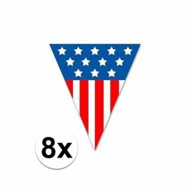 8x vlaggenlijn amerika 5 meter