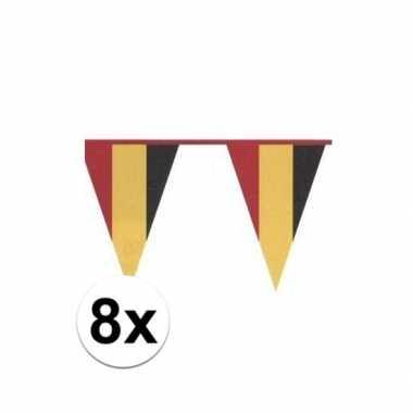 8x vlaggenlijn in belgische kleuren