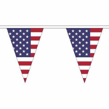 Amerika versiering vlaggenlijn 5 m
