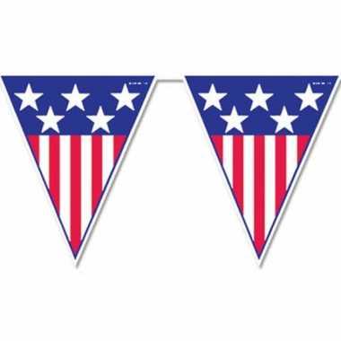 Amerika vlaggenlijnen 4 meter