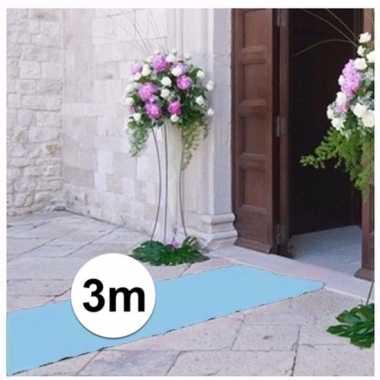 Babyshower artikelen 3 meter lichtblauwe loper 1 meter breed