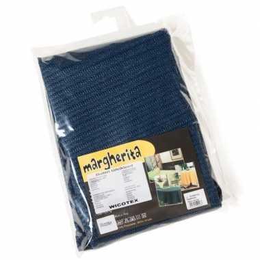 Blauw tuin tafellaken voor buiten160 cm vinyl/polyester