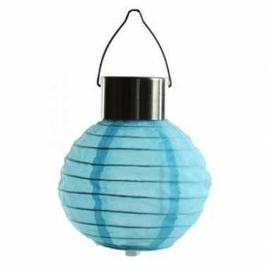 Blauwe lampion op zonne energie voor buiten