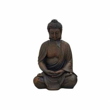 Boeddha beeld bruin 30 cm van polystone